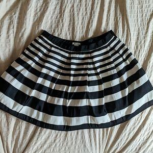 Striped black and white skirt